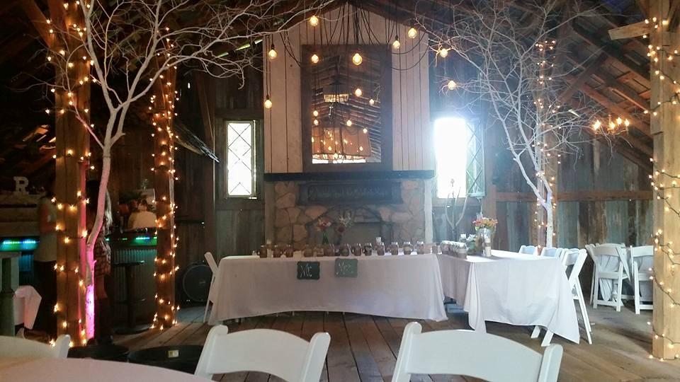 Barn Decorated for Wedding